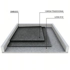 Carga para nivelación y aislación de losas de hormigón