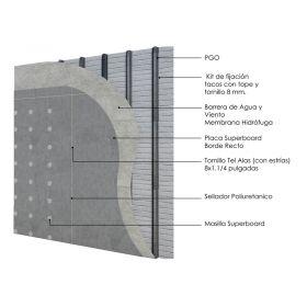Revestimiento seco de fachada exterior