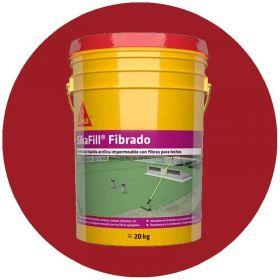 Membrana liquida impermeabilizante acrilica Sikafill fibrado techos transito ocasional rojo ceramico balde x 20kg