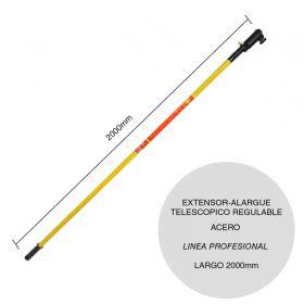Extensor-alargue acero para rodillo telescopico regulable linea Profesional x 2000mm