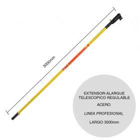 Extensor-alargue acero para rodillo telescopico regulable linea Profesional x 3000mm