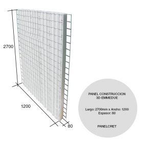 Panel construccion 3D EPS Panelcret estructural 80mm x 1200mm x 2700mm