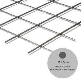 Malla acero Q84 maxi ø4.5mm separacion 150mm x 150mm medidas 2150mm x 6000mm x 12.9m²