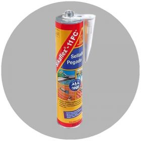 Sellador poliuretano adhesivo elastico multiuso Sikaflex-11 FC Plus secado rapido gris cartucho x 300ml