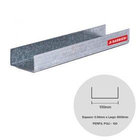 Perfil steel framing PGU 100 galvanizado 0.94mm x 100mm x 6000mm