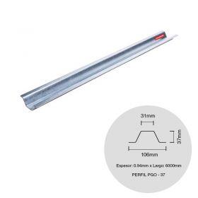 Perfil steel framing PGO 37 galvanizado 0.94mm x 37mm x 6000mm