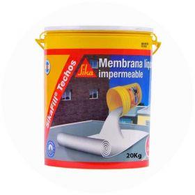 Membrana liquida impermeabilizante techos acrilica Sikafill blanco balde x 20kg