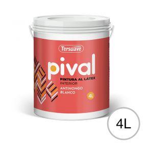 Pintura latex acrilico Pival interior blanco mate balde x 4l