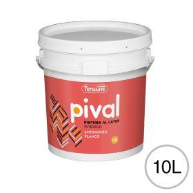 Pintura latex acrilico Pival interior blanco mate balde x 10l