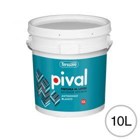 Pintura latex acrilico Pival interior/exterior blanco mate balde x 10l