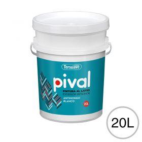 Pintura latex acrilico Pival interior/exterior blanco mate balde x 20l