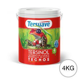 Membrana en pasta impermeabilizante Tersinol techos con poliuretano proteccion UV blanco semi mate balde x 4kg
