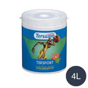 Pintura latex pisos deportivos Tersport al agua azul mate balde x 4l