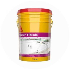 Membrana liquida impermeabilizante acrilica Sikafill fibrado techos transito ocasional blanco balde x 20kg