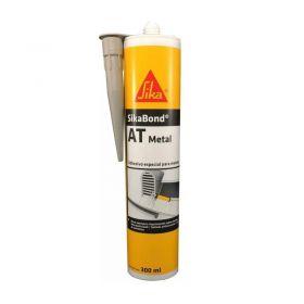 Adhesivo elastico Sikabond AT metal interior/exterior gris claro cartucho x 300ml