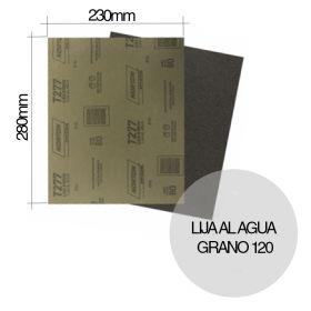 Lija al agua NorClass T277 grano 120 hoja 230mm x 280mm x u