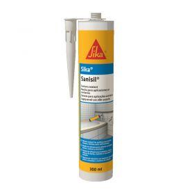 Sellador aplicaciones sanitarias Sika Sanisil silicona acetica transparente cartucho x 280ml