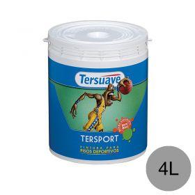 Pintura latex pisos deportivos Tersport al agua gris plomo mate balde x 4l