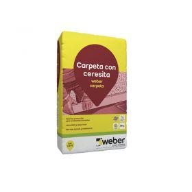 Carpeta niveladora bajo solado Weber carpeta con Ceresita bolsa x 30kg
