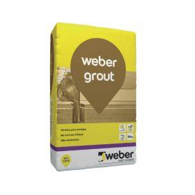 Mortero rellenos y empotramientos Weber Grout alta resistencia fluido gris bolsa x 30kg