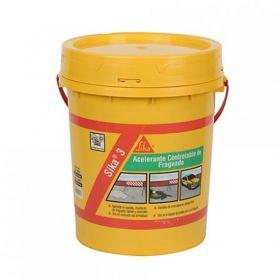 Aditivo acelerante fragüe hormigones y morteros Sika-3 sin cloruros balde x 25kg