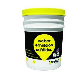 Imprimante Weber emulsion asfaltica impermeable secado ultrarrapido balde x 18kg