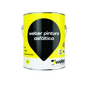Imprimante Weber pintura asfaltica impermeable secado ultrarrapido lata x 4l