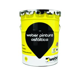 Imprimante Weber pintura asfaltica impermeable secado ultrarrapido lata x 18l
