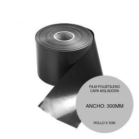 Film polietileno capa aisladora negro rollo 300mm x 50m