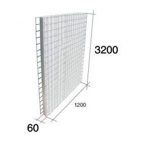 Panel construccion 3D Concrehaus EPS Isopor estructural 60mm x 1200mm x 3200mm