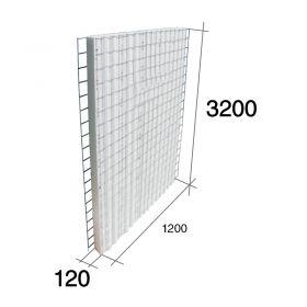 Panel construccion 3D Concrehaus EPS Isopor estructural 120mm x 1200mm x 3200mm