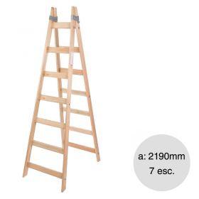 Escalera pintor madera reforzada 7 escalones altura 2190mm