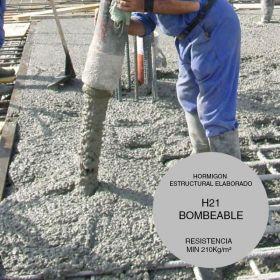 Hormigon estructural elaborado H21 bombeable x m³