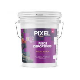 Pintura pisos deportivos acrilico PD alto transito impermeable secado rapido interior/exterior blanco balde x 20l