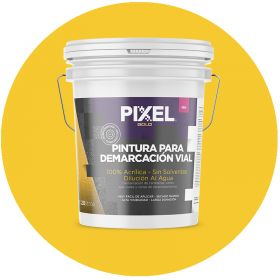 Pintura demarcacion vial acrilico PDV alta visibilidad larga duracion sin solventes amarillo balde x 20l