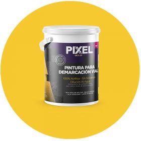 Pintura demarcacion vial acrilico PDV alta visibilidad larga duracion sin solventes amarillo balde x 4l