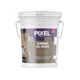 Barniz acrilico al agua BA absorvente UV alta resistencia interior/exterior transparente brillante balde x 20l