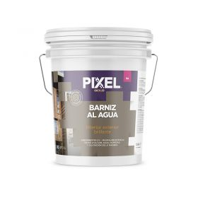 Barniz acrilico al agua BA absorvente UV alta resistencia interior/exterior transparente brillante balde x 10l