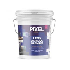 Pintura latex acrilico interior MI-300 premium lavable antihongos antimancha blanco mate balde x 20l