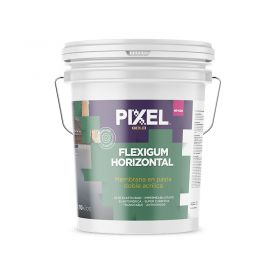 Membrana liquida doble acrilica impermeabilizante Flexigum MP-600 techos transitable en pasta blanco balde x 10kg