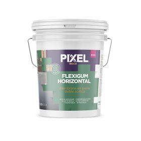 Membrana liquida doble acrilica impermeabilizante Flexigum MP-600 techos transitable en pasta blanco balde x 20kg