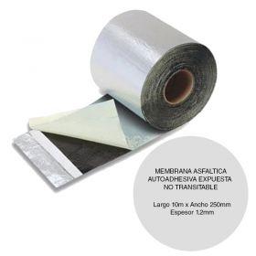 Membrana asfaltica reparaciones Clipperflex autoadhesiva expuesta no transitable rollo 1.2mm x 250mm x 10m