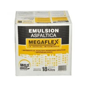 Emulsion asfaltica impermeabilizante Megaflex base acuosa aplicacion frio caja x 18kg