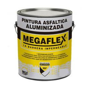 Pintura asfaltica aluminizada Megaflex proteccion membranas lata x 4l