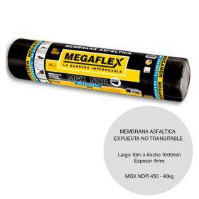 Membrana asfaltica MGX-NOR-450 no expuesta transitable 40kg x 4mm x 1000mm x 10m rollo x 10m²