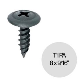 "Tornillo autoperforante T1 punta aguja 8 x 9/16"" pack x 100u"