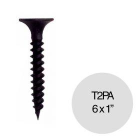 "Tornillo autoperforante T2 punta aguja 6 x 1"" pack x 100u"