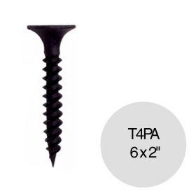 "Tornillo autoperforante T4 punta aguja 6 x 2"" pack x 100u"