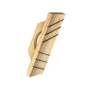 Rasqueta desbaste madera salientes muro HCCA